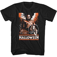 Halloween- The Night He Came Home Drawing on a black ringspun cotton shirt