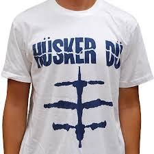 Husker Du- Everything Falls Apart on a white shirt