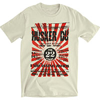 Husker Du- Eugene Flyer on a white ringspun cotton shirt