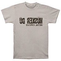 Husker Du- Metal Circus on a grey ringspun cotton shirt