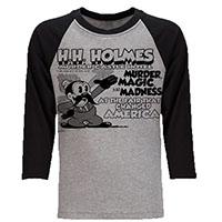 H. H. Holmes Murder Castle Baseball Shirt by Western Evil