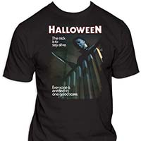 Halloween- The Trick Is To Stay Alive on a black shirt