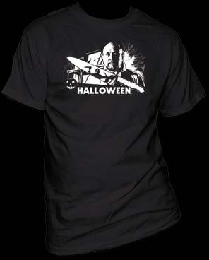 Halloween- Dr. Sam Loomis on a black shirt (Sale price!)