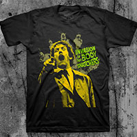 Invasion Of The Body Snatchers- Pointing on a black ringspun cotton shirt