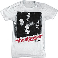 Stooges- Band Pic on a white ringspun cotton shirt