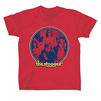 Stooges- Band Pic on a red ringspun cotton shirt