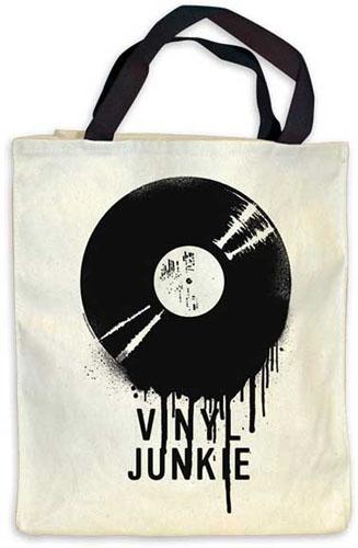 Vinyl Junkie tote bag