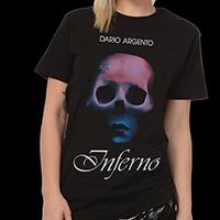 Inferno- Skull on a black ringspun cotton shirt (Dario Argento)