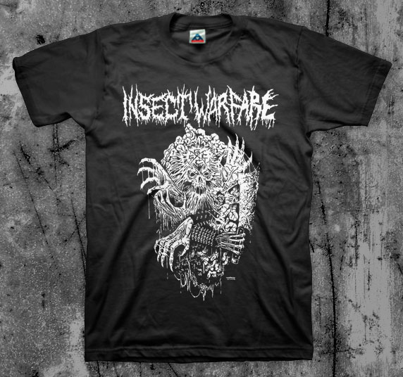 Insect Warfare- Swindle on a black shirt