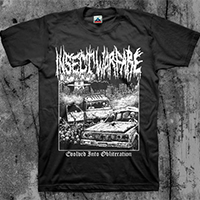Insect Warfare- Evolved Into Obliteration on a black shirt