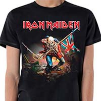 Iron Maiden- The Trooper on a black shirt