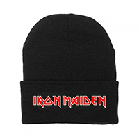Iron Maiden- Logo embroidered on a black cuffed beanie