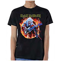 Iron Maiden- Fear Of Flames on a black shirt