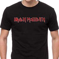 Iron Maiden- Distressed Logo on a black shirt