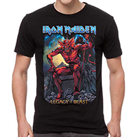 Iron Maiden- Legacy Of The Beast on a black shirt
