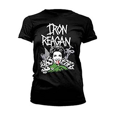 Iron Reagan- Nancy on a black girls fitted shirt - SALE - sz XL only