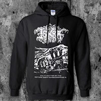 Iskra- Only A Matter Of Time on front, Bird on back on a black hooded sweatshirt