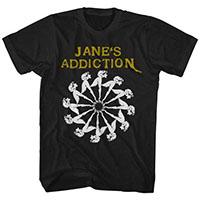 Jane's Addiction- Lady Wheel on a black ringspun cotton shirt