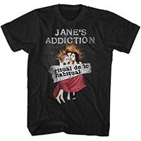 Jane's Addiction- Ritual De Los Habitual on a black ringspun cotton shirt