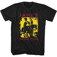Jane's Addiction- Roman Horse on a black ringspun cotton shirt