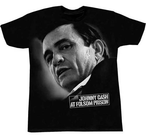 Johnny Cash- At Folsom Prison on a black shirt (Sale price!)