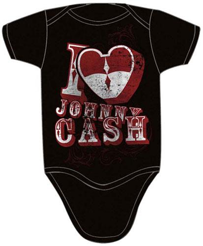Johnny Cash- Love on a black onesie (S-6m, M- 12m, L- 18m) (Sale price!)