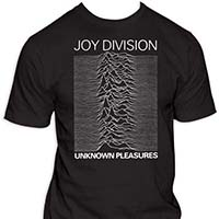 Joy Division- Unknown Pleasures on a black shirt