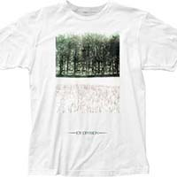 Joy Division- Atmosphere on a white ringspun cotton shirt