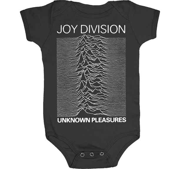 Joy Division- Unknown Pleasures on a black onesie (S-6m, M- 12m, L- 18m)