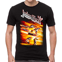 Judas Priest- Firepower on a black shirt