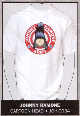 Johnny Ramone- Army on a white shirt (Sale price!)