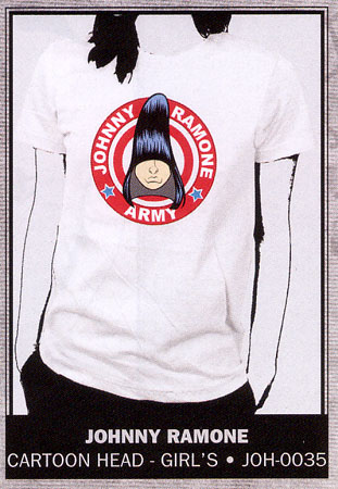 Johnny Ramone- Army on a white girls fitted shirt (Sale price!)
