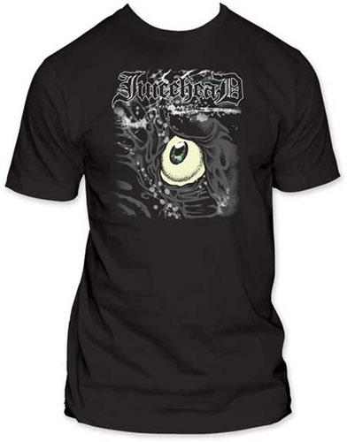 Juicehead- Eyeball on a black ringspun cotton shirt (Sale price!)