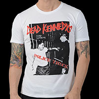 Dead Kennedys- Police Truck on a white ringspun cotton shirt