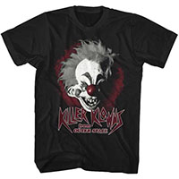 Killer Klowns From Outer Space- Klown Face on a black ringspun cotton shirt