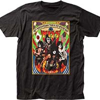 Kiss- Japanese Tour on a black ringspun cotton shirt