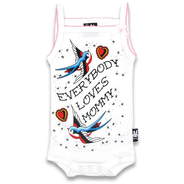 Everybody Loves Mommy Onesie by Six Bunnies (S:0-3m, M:3-6m, L:6-12m, XL:12-18m) - SALE