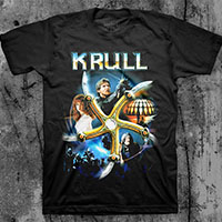 Krull- Collage on a black ringspun cotton shirt
