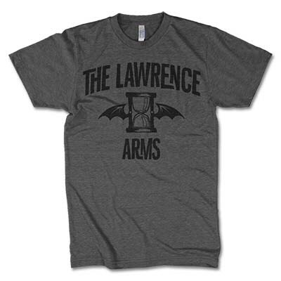 Lawrence Arms- Flappy on a grey ringspun cotton shirt