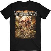 Lamb Of God- Vine Skull on a black shirt