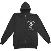 Lars Frederiksen & The Bastards- Lars on front & back on a black zip up hooded sweatshirt (Sale price!)