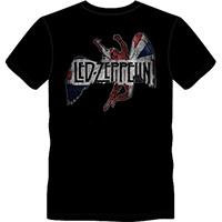 Led Zeppelin- Icarus Flag on a black ringspun cotton shirt