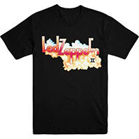 Led Zeppelin- II Logo on a black ringspun cotton shirt