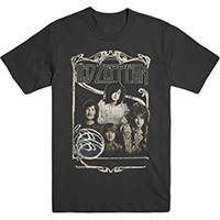 Led Zeppelin- 1969 Band Pic on a charcoal ringspun cotton shirt