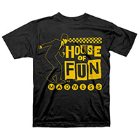 Madness- House Of Fun on a black shirt