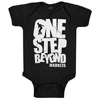 Madness- One Step Beyond on a black onesie
