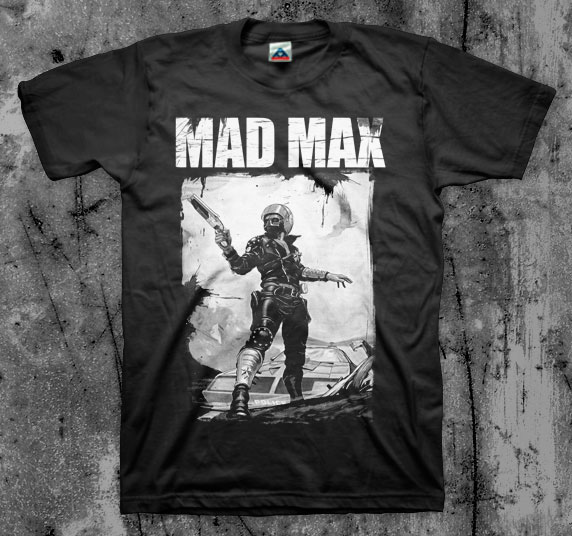 Mad Max- With Gun on a black shirt