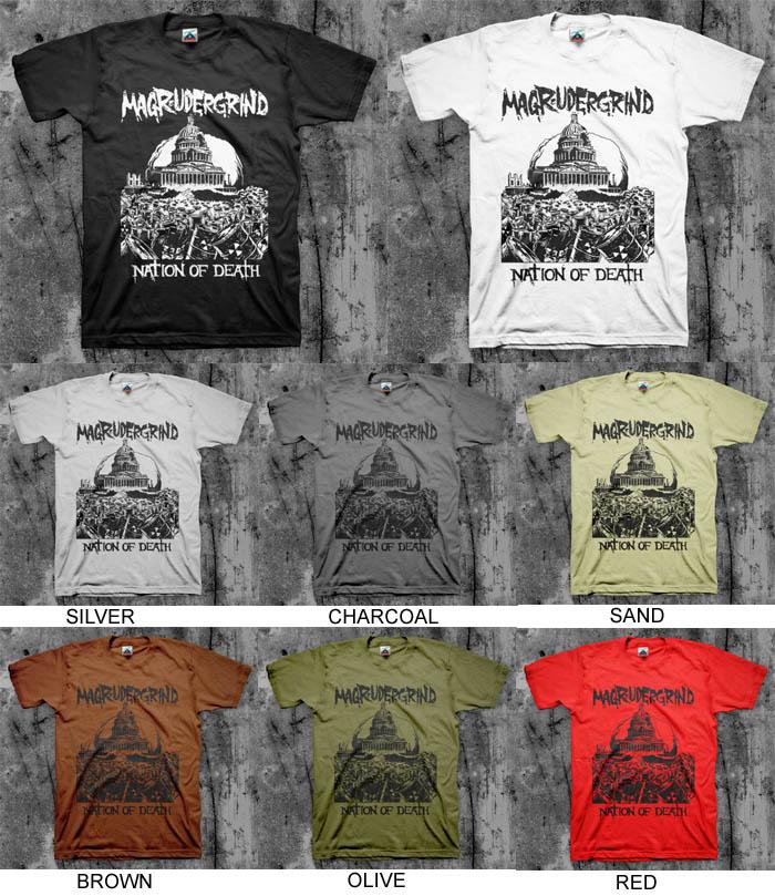 Magrudergrind- Nation Of Death shirt (Sale price!)