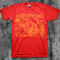 Magrudergrind- Humanity Is Unrest shirt (Orange Print on Various Color Ts)