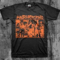 Magrudergrind- Humanity Is Unrest on a black shirt